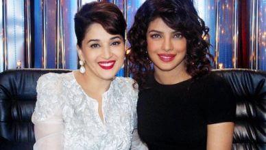 Madhuri Dixit with Priyanka Chopra